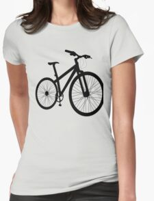 Bicycle silhouette Womens Fitted T-Shirt