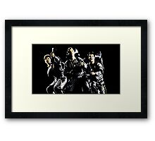 Three heroes! Framed Print