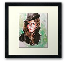 wicked green zelena watercolor painting Framed Print