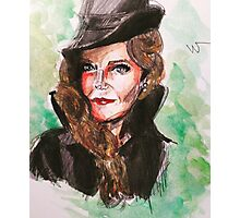 wicked green zelena watercolor painting Photographic Print