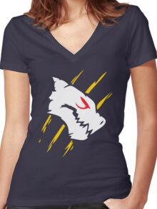 The White Fang Women's Fitted V-Neck T-Shirt