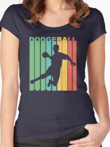 Retro Dodgeball Women's Fitted Scoop T-Shirt