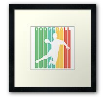 Retro Dodgeball Framed Print
