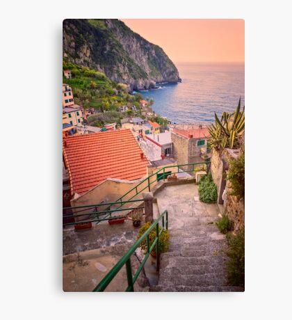 Steps to Riomaggiore Cinque Terre Italy Canvas Print