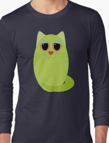 CAT CHARTREUSE ONE Long Sleeve T-Shirt