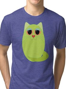 CAT CHARTREUSE ONE Tri-blend T-Shirt