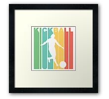 Retro Kickball Framed Print