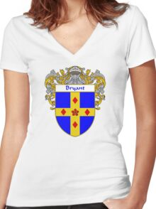 Bryant Coat of Arms/Family Crest Women's Fitted V-Neck T-Shirt