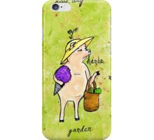 Piggy Went To The Organic Market iPhone Case/Skin
