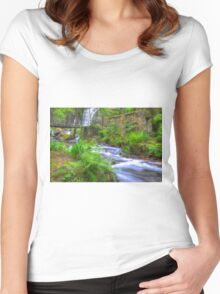 The Green Waterfall Women's Fitted Scoop T-Shirt