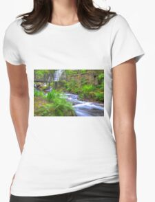 The Green Waterfall Womens Fitted T-Shirt