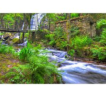 The Green Waterfall Photographic Print