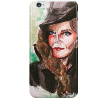 wicked green zelena watercolor painting iPhone Case/Skin
