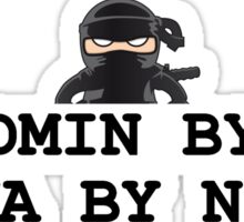 sysadmin ninja admin computers systems Sticker