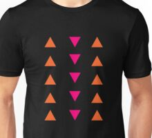 Triangles (pink and orange) Unisex T-Shirt