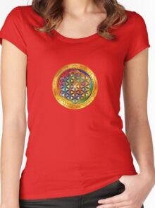 The Flower of Life - dark Women's Fitted Scoop T-Shirt