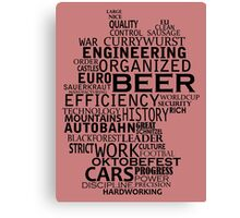 Germany in words (white text) Canvas Print