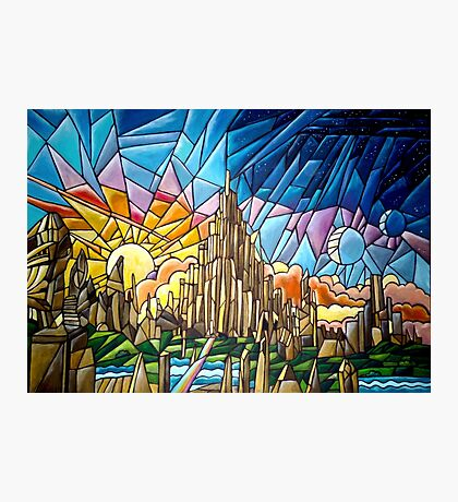 Asgard stained glass style Photographic Print