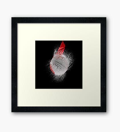 Red Balloon Pop Framed Print