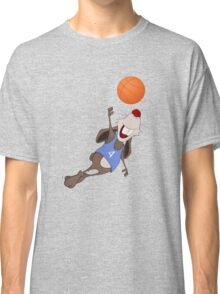 Funny rat with basketball Classic T-Shirt