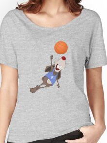 Funny rat with basketball Women's Relaxed Fit T-Shirt