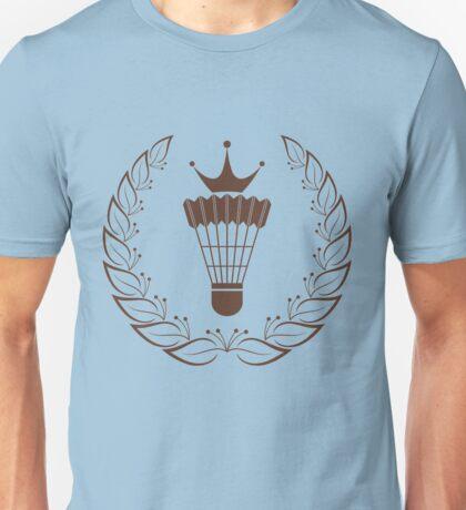 Silhouette badminton racket shuttle Unisex T-Shirt