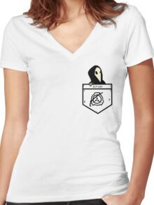 Pocket Doctor Women's Fitted V-Neck T-Shirt