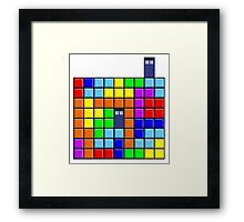 Tardis Tetris Framed Print