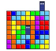 Tardis Tetris Photographic Print