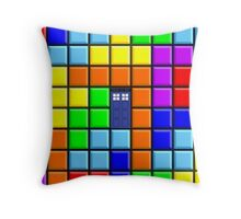 Tardis Tetris Throw Pillow