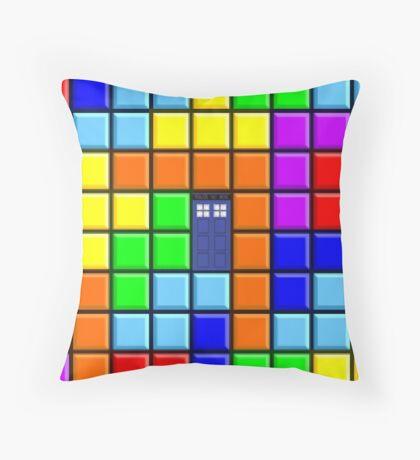 Tardis Tetris Throw Pillow
