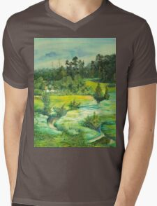green valley Mens V-Neck T-Shirt