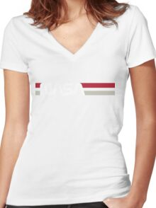 Retro NASA Women's Fitted V-Neck T-Shirt