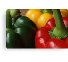 Green, Red and Yellow Canvas Print