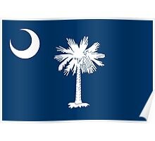 Flag of South Carolina - Authentic version Poster