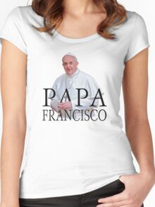 Papa Francisco Pope Francis Women's Fitted Scoop T-Shirt