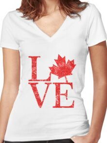 Canadian Love Affair Women's Fitted V-Neck T-Shirt