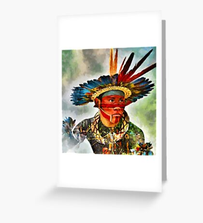 CM10044 - Indians of the Brazilian Amazon Greeting Card