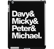 Hey Hey We're The Monkeys! Helvetica & Ampersand iPad Case/Skin