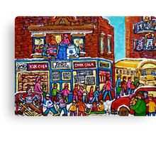 VINTAGE MONTREAL BAGEL SHOP Canvas Print