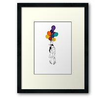 Balloon Ride Couple - Colour Framed Print