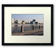 St. Petersburg reflected in water Framed Print