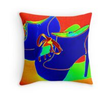 Psychedelic stiletto heels 1  Throw Pillow
