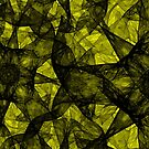 Fractal art black and yellow by Medusa81
