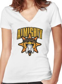Almighty Glo Man Women's Fitted V-Neck T-Shirt