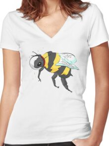 Cosmic Bee in Color Women's Fitted V-Neck T-Shirt