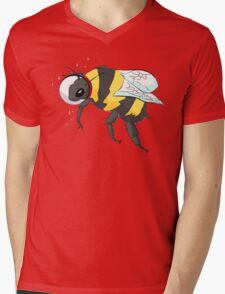 Cosmic Bee in Color Mens V-Neck T-Shirt