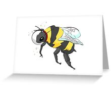 Cosmic Bee in Color Greeting Card