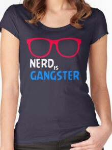 Nerd is Gangster Women's Fitted Scoop T-Shirt