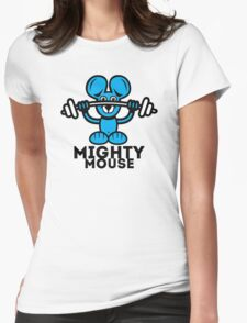 Mighty Mouse Womens Fitted T-Shirt
